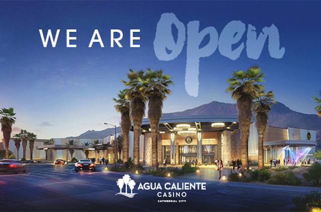 Agua Caliente Casino Cathedral City Now Open