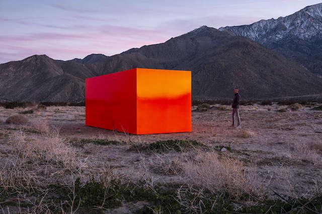 Desert X orange cube