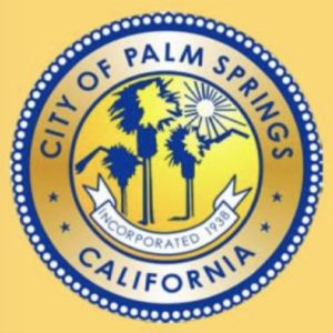 City of Palm Springs Seal Gold
