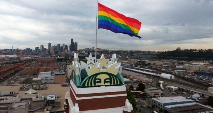 Starbucks Rainbow Flag