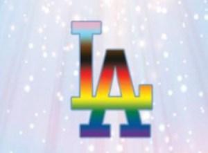 LA Dodger Logo Rainbow