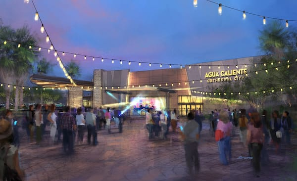 Cathedral City Agua Caliente Rendering Exterior Crowd