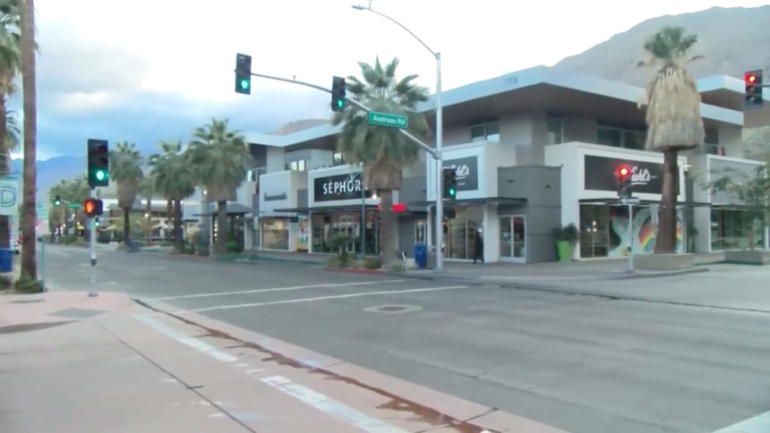 Downtown Palm Springs Intersection