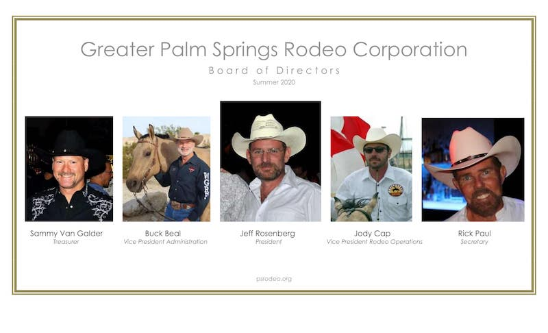 PS Rodeo Board of Directors 2020