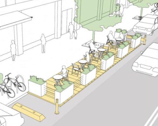 Parklets Concept Drawing