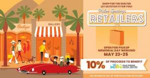 Palm Springs Retailers Memorial Day Curbside Event